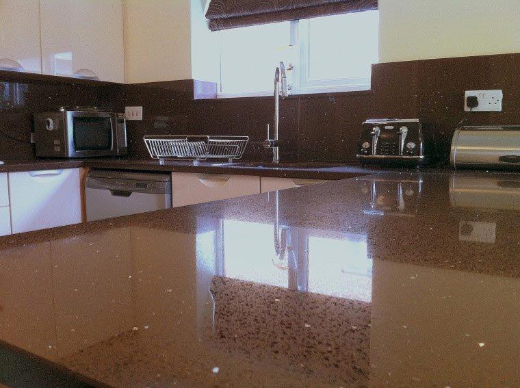 Brown Starlight Quartz Worktops From Mayfair Granite