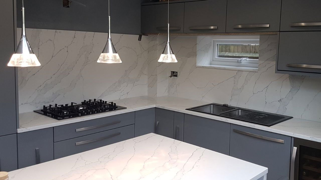 Calacatta Quartz Worktops From Mayfair Granite